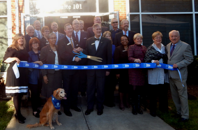 Village Bank Ribbon Cutting