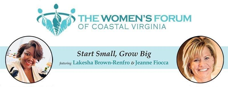 Womens Forum of Coastal Virginia flyer