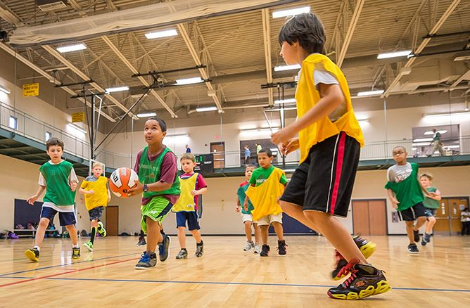 Basketball match at the Recreation Center